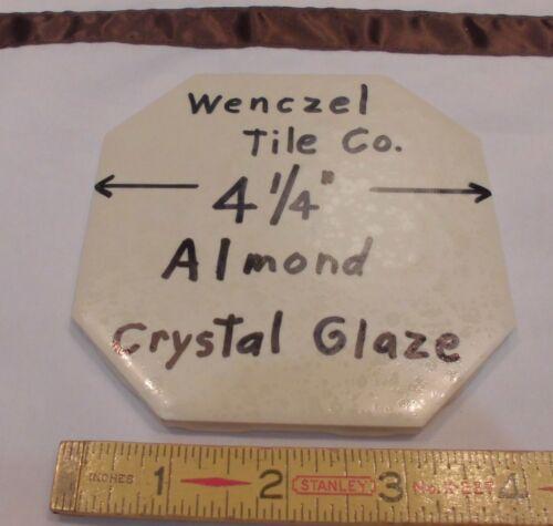 "1 pc Octagon 4-1//4/""  Almond *Crystal Glazed* Ceramic Tile by Wenczel Tile Co."