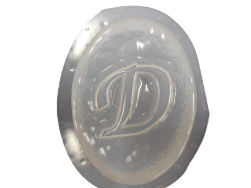 QTY 2 ALPHABET PLAQUE LETTER  D BAR SOAP MOLD 4686 Moldcreations