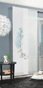 Flaechenvorhang-Schiebevorhang-bedruckt-60x245cm-Calais-Orchidee-weiss-Blume