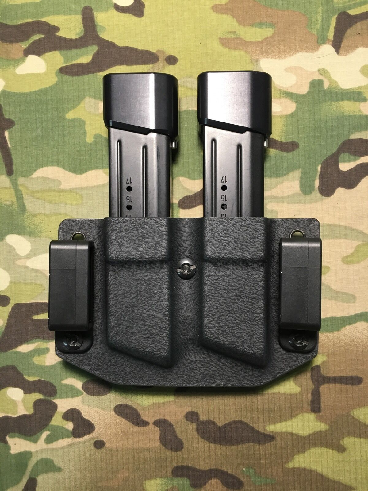 Navy Digital Kydex M&P 9 .40 .357 Dual Dual .357 Magazine Carrier c68015