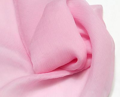 "100% PURE SILK CRINKLE GEORGETTE CHIFFON FABRIC 45"" 20 COLOR SOLD BY THE YARD"