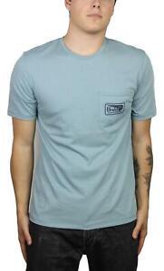 Brixton-Mens-Messenger-Pocket-Short-Sleeve-T-Shirt-Blue-Stone-M-New