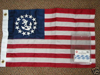 YACHT ENSIGNS SEWN DELUXE TAYLOR MADE 32 8130 20X30 BOATINGMALL BOAT FLAG U.S
