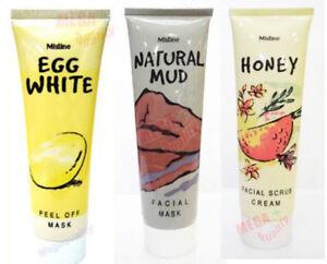 85g-Mistine-Natural-Facial-Mask-Honey-Scrub-Mud-Egg-White-Peel-Off-Mask-3-Step