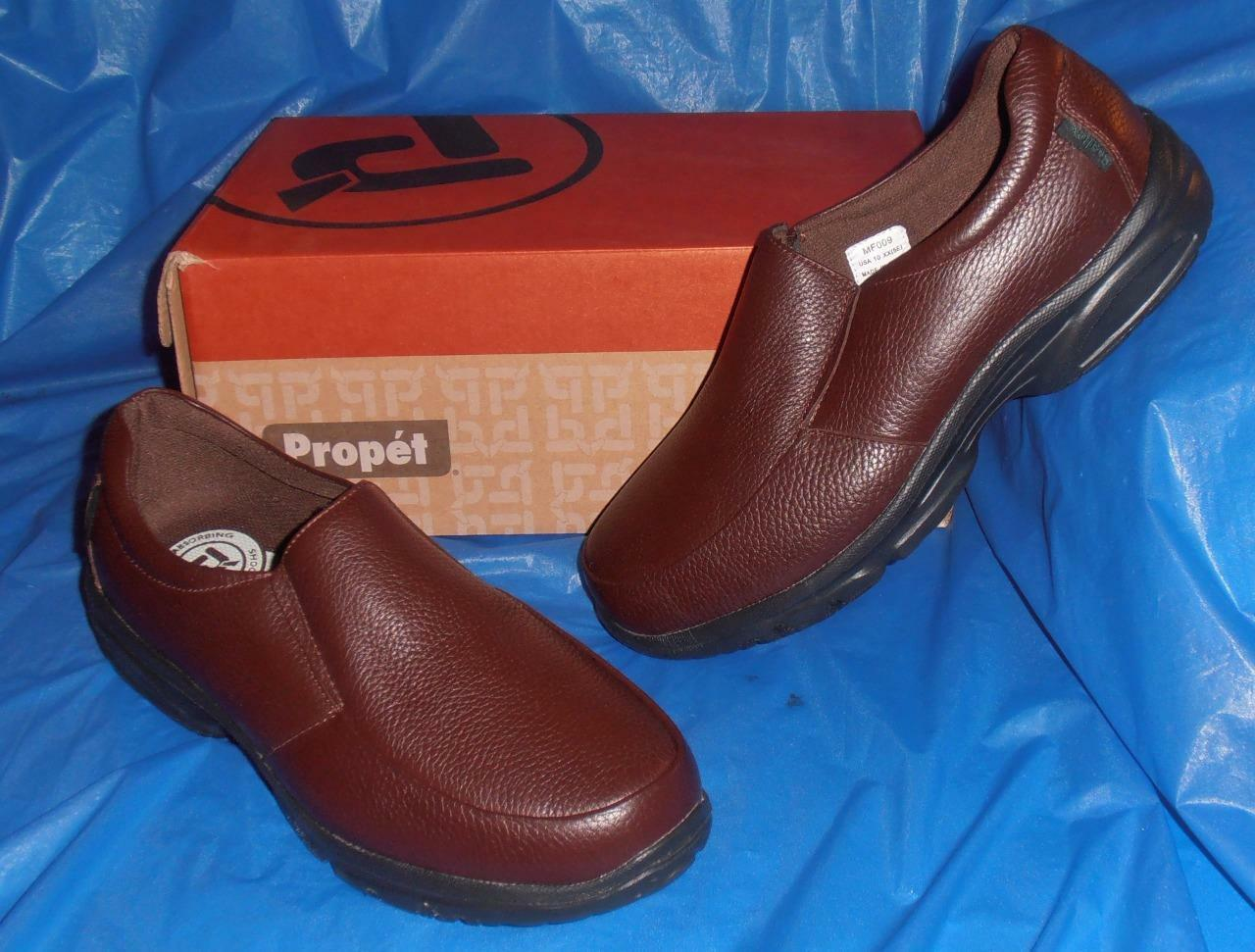Propet, Uomo Dark Brown Casual or Dress Slip-on,  Comfortable, 10  XX ( EEEEE )