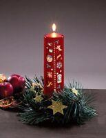 Adventskerze 24 Tage Weihnachtskerze rot 15 cm Advent Kerze Weihnachten NEU
