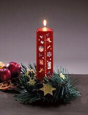 Vela de adviento 24 Días Vela de navidad rojo 15 cm Advento vela Navidad nuevo