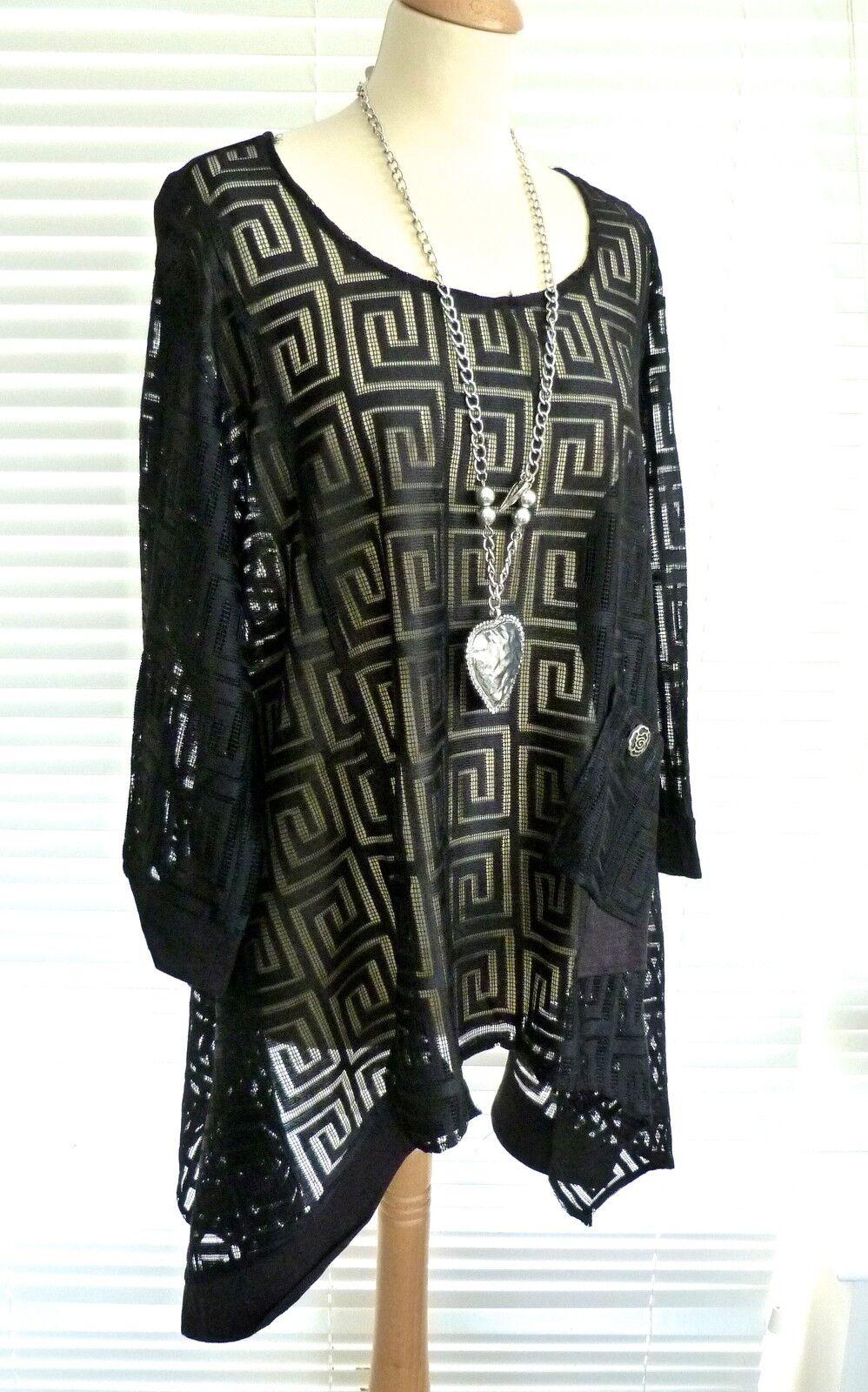 Gorgeous C'Fait Pour Vous - Paris quirky asymmetric Tunic Top with Greek Key ...