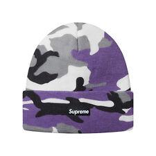 Supreme Camo Beanie Purple Camo