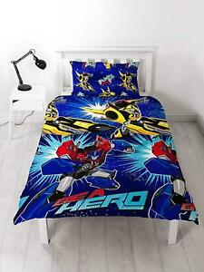 Transformers Hero Reversible Single Duvet Bedding Set Kids BEA Hero Bed Set