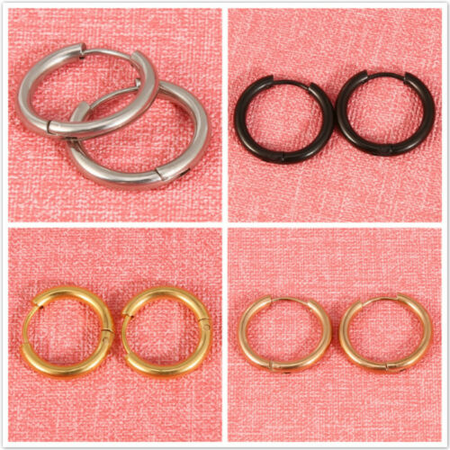 Pair Surgical Steel Small Hoop Earrings Set for Men Women Kids Huggie Earrings Z