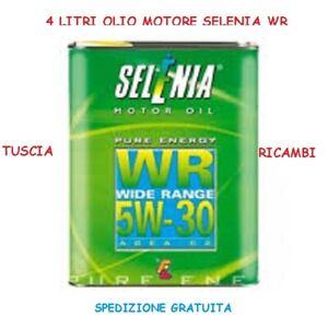 Olio-Motore-Selenia-WR-PE-5w30-4LITRI-originale-per-Motori-ALFA-FIAT-Multijet