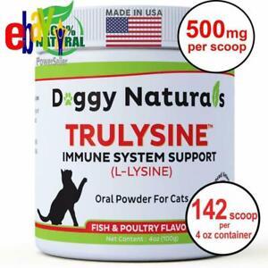 Cats-amp-Kittens-Immune-Health-Viralys-Support-Granule-L-Lysine-Powder-500mg-4-Oz