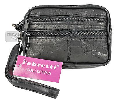 Real Leather Belt Pouch Purse Wallet Camera Phone Pocket Waist Wrist Travel Bag