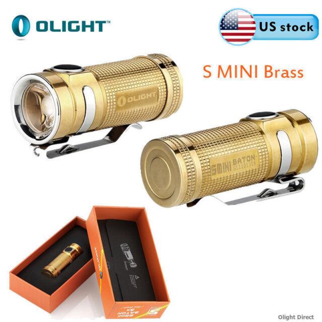 Olight S Mini Raw Brass 550Lumens CREE XM-L2 LED EDC Flashlight w/ Battery