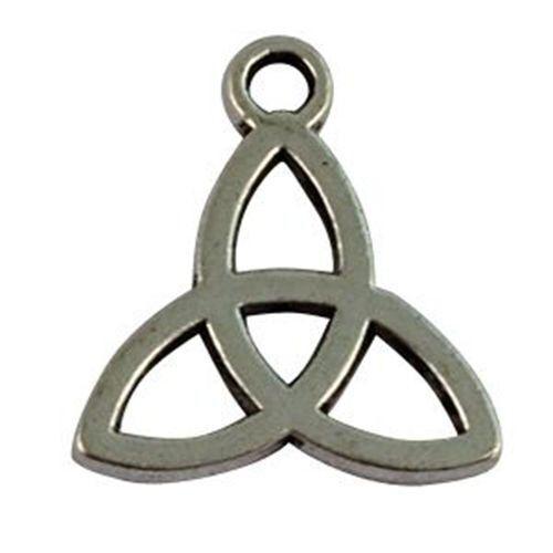 70Pcs Tibetan Silver Triangle Knot Charms FC16268