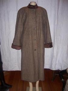 Tweed Entièrement Bernard 16 Laine Longueur Nouveau Brown Harve 100 Manteau Taille 7HEnq4wwW