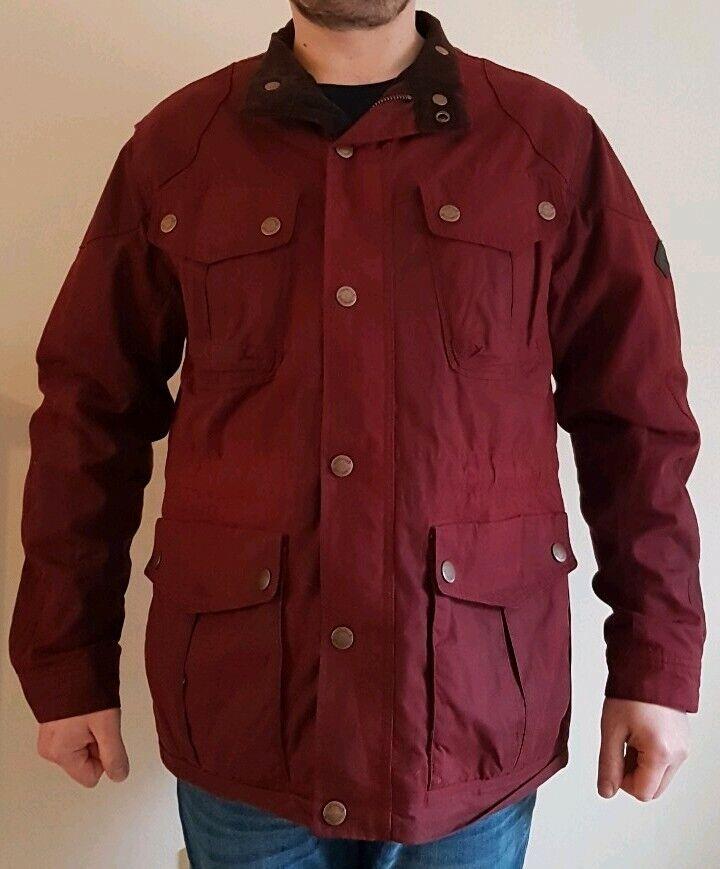 à Condition De Timberland Homme Trialmaster Ltd Edtn British Millerain Rouge Cire Manteau Sz Xl Rp £ 130 Avoir Une Longue Position Historique