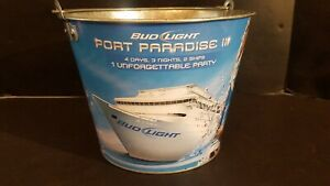 "Bud Light ""Port Paradise"" Anheuser Busch Beer Ice Bucket"