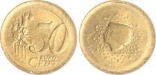 Niederlande 50 Cent Fehlprägung: vz, Rohling zu dünn, 5,49g