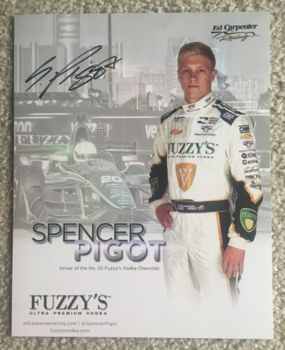Spencer Pigot 2016 Indy Car Indianapolis 500 Promo hero Card Autographed