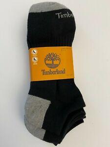 Timberland Men's Cushioned No-Show Socks - Black/Gray - NWT - 9 - 13