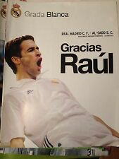 PROGRAMA PROGRAMME REAL MADRID AL SADD QATAR TRIBUTE RAUL GONZALEZ SCHALKE 2013