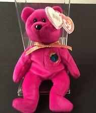 2000 Millennium TY Beanie Baby Bear With 5 Errors With Storage Case