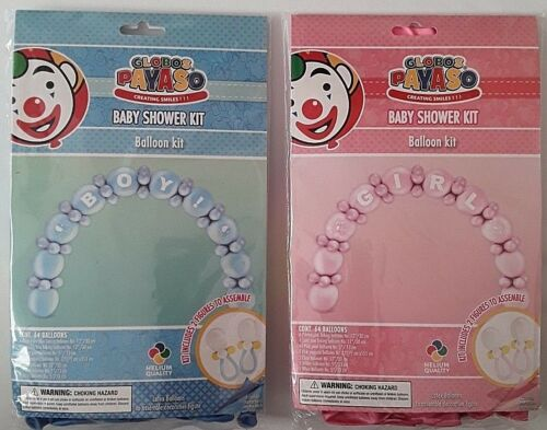 Baby Shower Balloon Chain Arch Kit 64 Balloons Baby Boy Girl Party Decoration