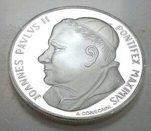 Pope-John-Paul-II-Silver-Coin-Vatican-City-Man-Spirituality-Holy-Ghost-Priest-U