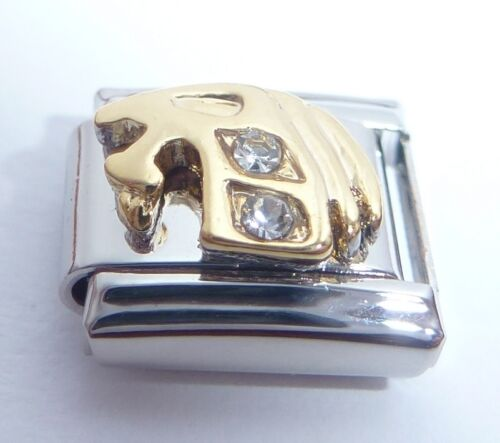 CAPRICORN Italian Charm CLEAR GEMS Crystals Horoscope Zodiac Symbol 9mm Classic