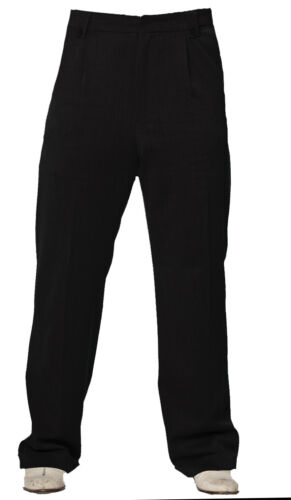 1940s UK and Europe Men's Clothing – WW2, Swing Dance, Goodwin    Mens Classic Vintage style WW2 Wartime 1930s 1940s Black Trousers  £34.99 AT vintagedancer.com