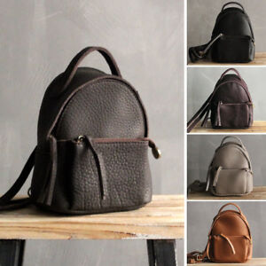 Convertible-Small-Mini-Real-Leather-Backpack-Rucksack-Shoulder-Bag-Purse-Cute