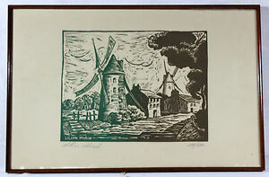 LITHOGRAPHIE-signee-Lilian-MARIN-numerotee-258-450-Dimensions-30-x-45-cm