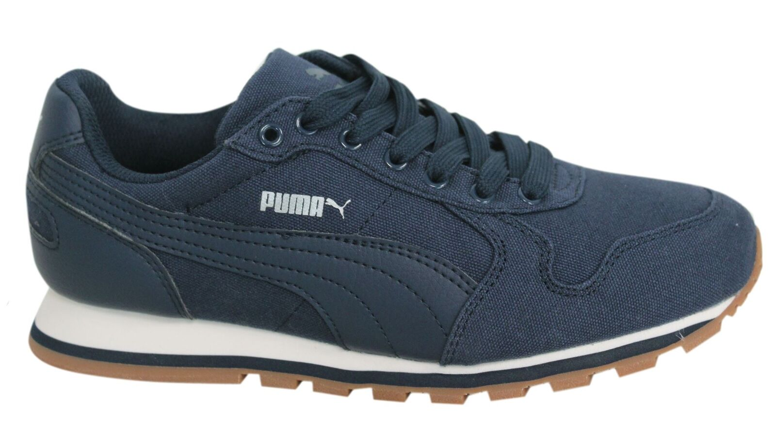 Puma ST Runner CV Lace Up Peacoat Textile Mens Trainers 359880 06 M13