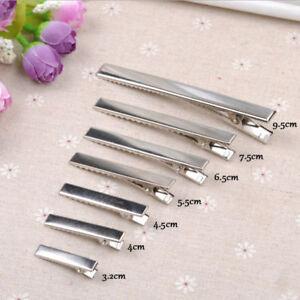 20pcs-DIY-Silver-Flat-Metal-Single-Prong-Alligator-Hair-Clip-Barrette-Accessory