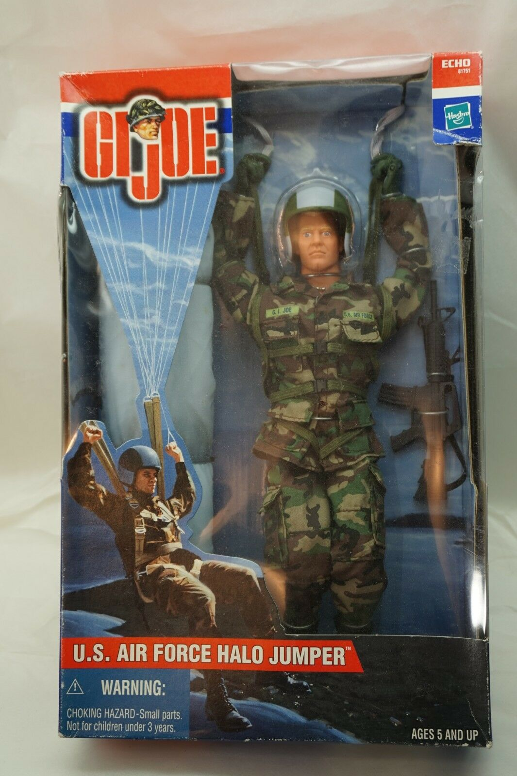 GI JOE ACTION FIGURE 12in US AIR FORCE HALO JUMPER 2001 MIB FACTORY SEALED d