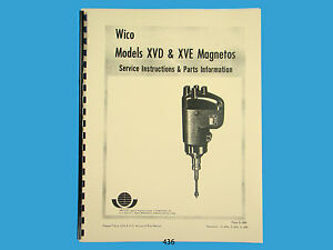 wico magneto service amp parts manual for xvd amp xve magnetos image is loading wico magneto service amp parts manual for xvd