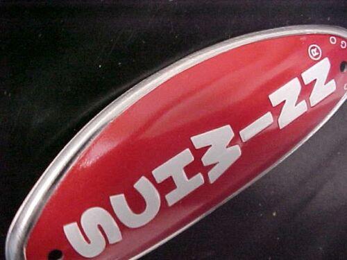 Yellow Schwinn Stingray BMX Bicycle Head Badge Name Plate Emblem nos