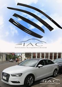 For-Audi-A3-4D-Sedan-13-18-Window-Visor-Vent-Sun-Shade-Rain-Guard-Door-Visor