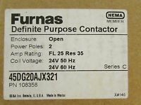 Siemens Furnas 45dg20ajx321 Definite Purpose 2 Pole 24 V Contactor