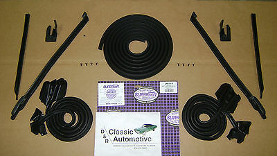 Weatherstrip Kit 9pc Door/Pillar/Trunk/U-jamb/Quarter Window 1968 Convertible