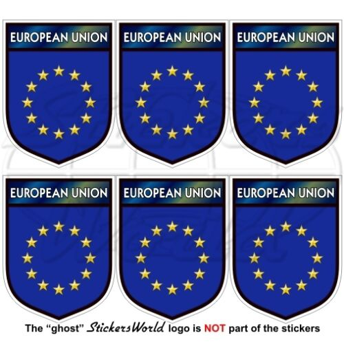 "Mobile Cell Phone Stickers Decals x6 1,6/"" EUROPE European Union Shield EU 40mm"