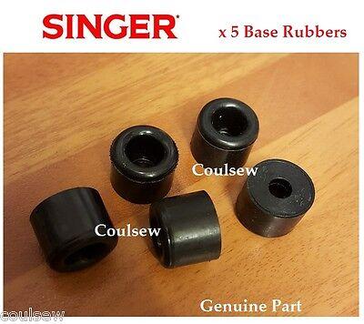 5 SINGER SEWING MACHINE BASE RUBBERS BOTTOM FEET BED CUSHIONS 222k 411G 431G