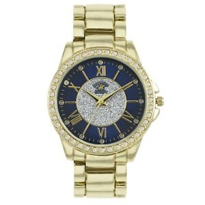 897332cead4e04 US Beverly Hills Polo Club Women's Watch Rhinestone-Accented Gold ...