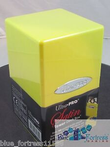 Ultra Pro Satin Tower Deck Box BRIGHT YELLOW Magic Pokemon Vanguard Dragon Ball