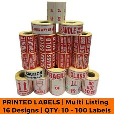 Postage Stickers Small Qty 10 100 Labels Fragile Glass Bend 19 Designs