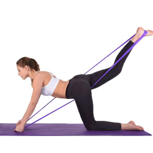 1,5 m elastische Yoga Pilates Gummi Stretch Widerstand Übung Fitness Band  HV