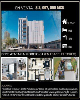 DEPARTAMENTO ATARAXIA MODELO 01 EN FRACC EL TOREO