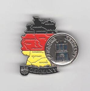 Aimant HAMBOURG ALLEMAGNE GERMANY réfrigérateur magnétique métal souvenir pièce NEUF  </span>